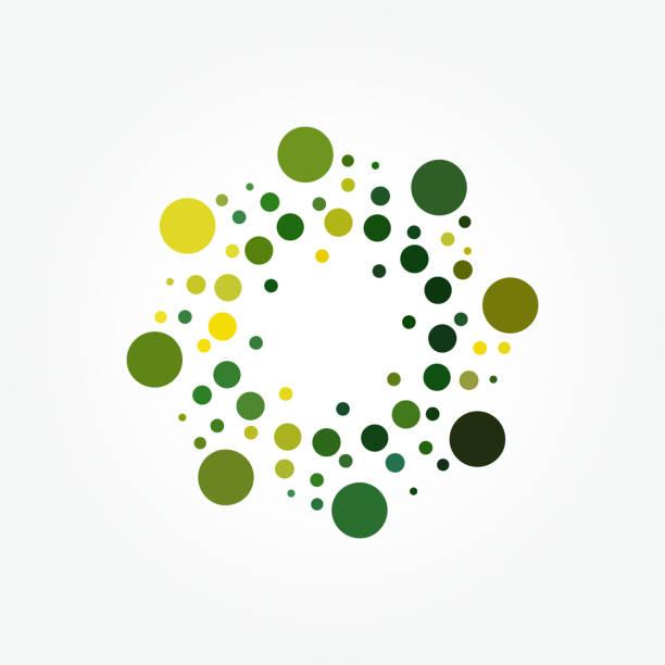 vector halftone polka dots pattern - концентрический stock illustrations