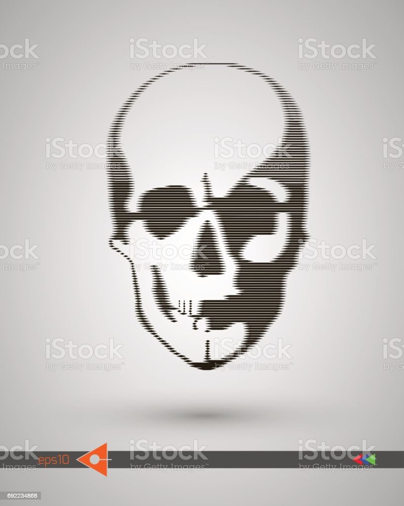 Vector halftone skulls skull icon symbol of death danger war death vector halftone skulls skull icon symbol of death danger war death buycottarizona Choice Image