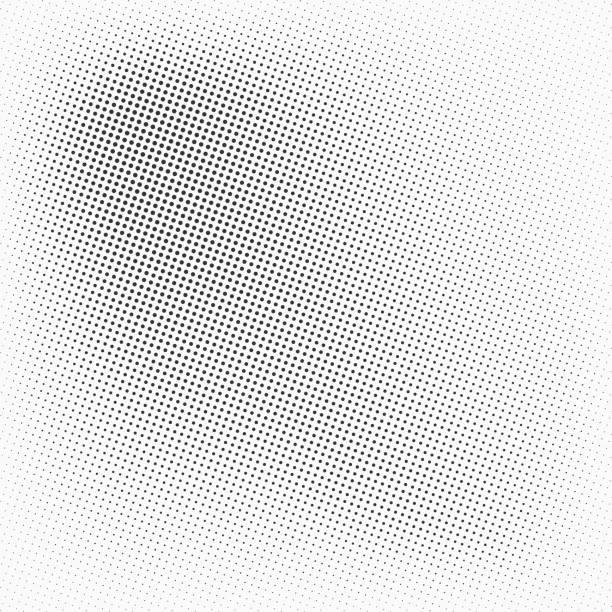 illustrazioni stock, clip art, cartoni animati e icone di tendenza di vector halftone texture. - gradazione mezzo tono