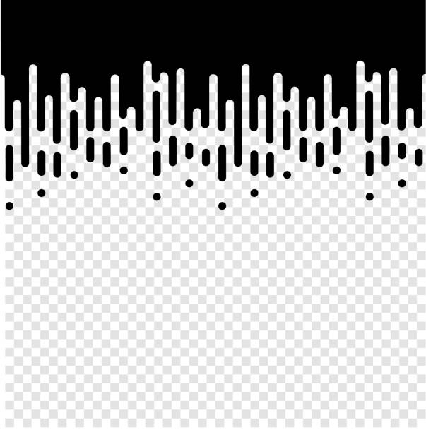 Vector Halftone Transition Abstract Wallpaper Pattern. Seamless Black And White Irregular Rounded Lines Background Vector Halftone Transition Abstract Wallpaper Pattern. Seamless Black And White Irregular Rounded Lines Background for modern flat web site design. high key stock illustrations