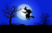 Halloween background created in vector. Easy to Edit