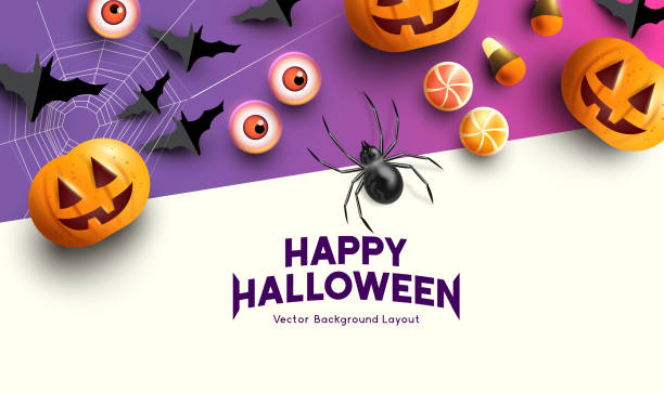 vektör cadılar bayramı kutlama arka plan - halloween background stock illustrations