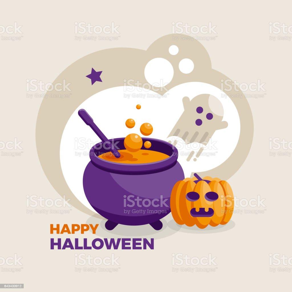 Vector Halloween design vector art illustration