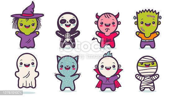 istock Vector Halloween monsters. 1279701024