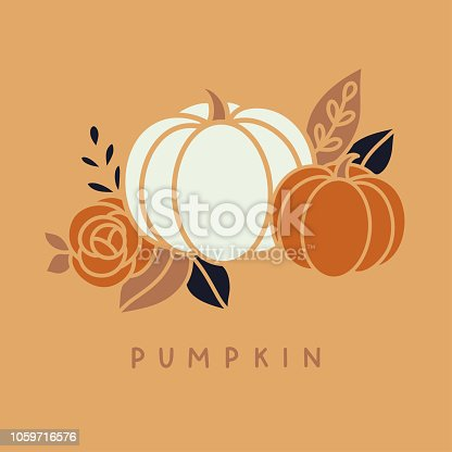 Vector halloween pumpkin illustration clip art