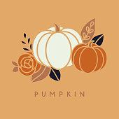 Vector halloween pumpkin illustration clip art