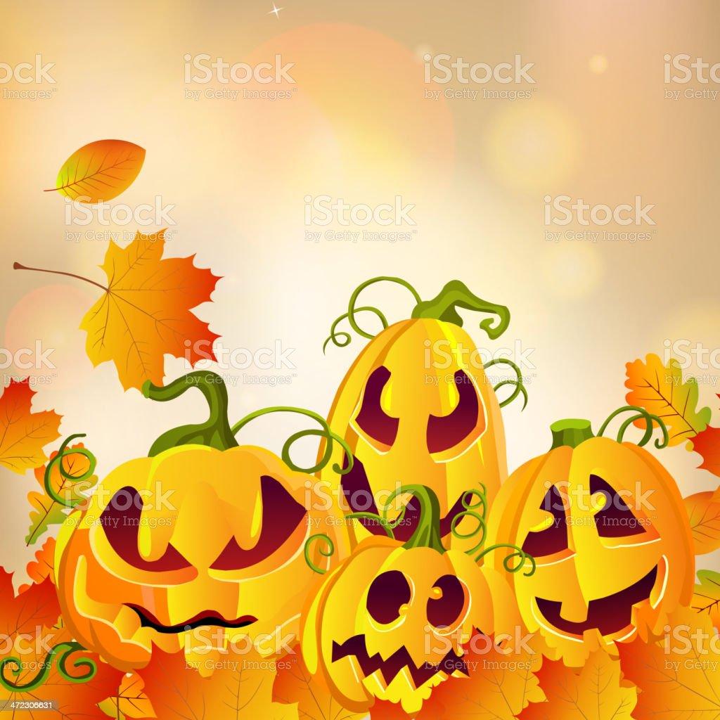 Vector halloween pumpkins royalty-free stock vector art