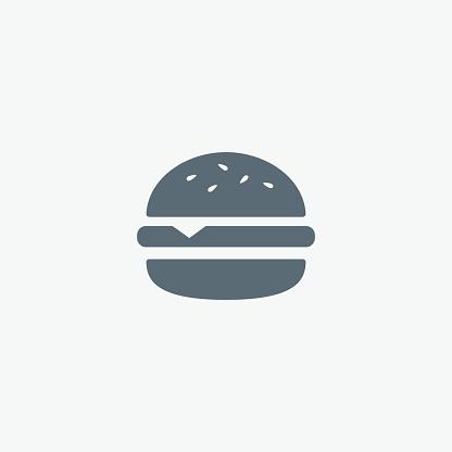 Vector Hamburger icon. Fast food sign. Burger symbol