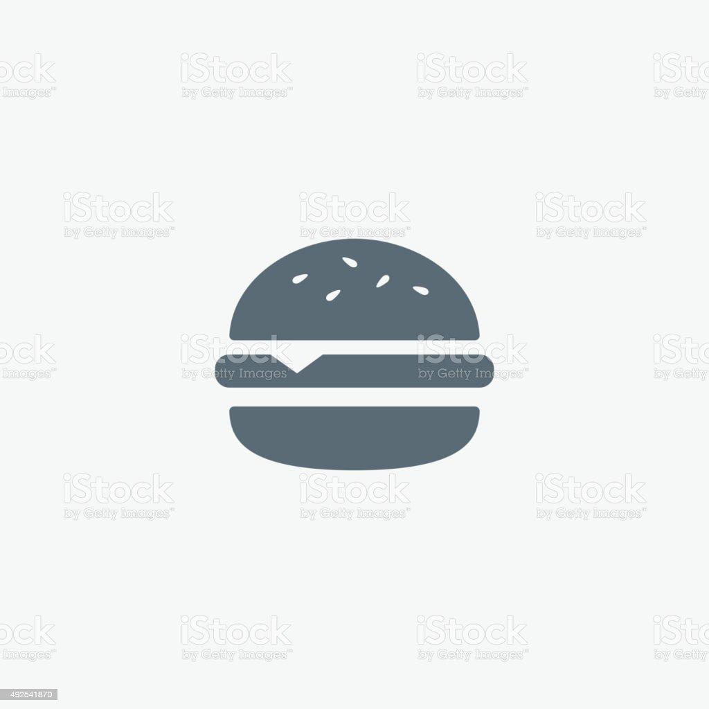 Vector Hamburger icon. Fast food sign. Burger symbol vector art illustration