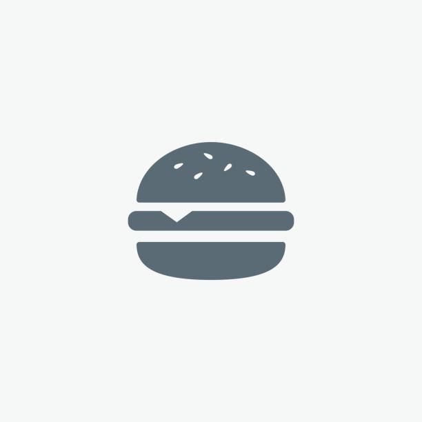 вектор значок гамбургер. фаст-фуд». бургер символ - cheeseburger stock illustrations