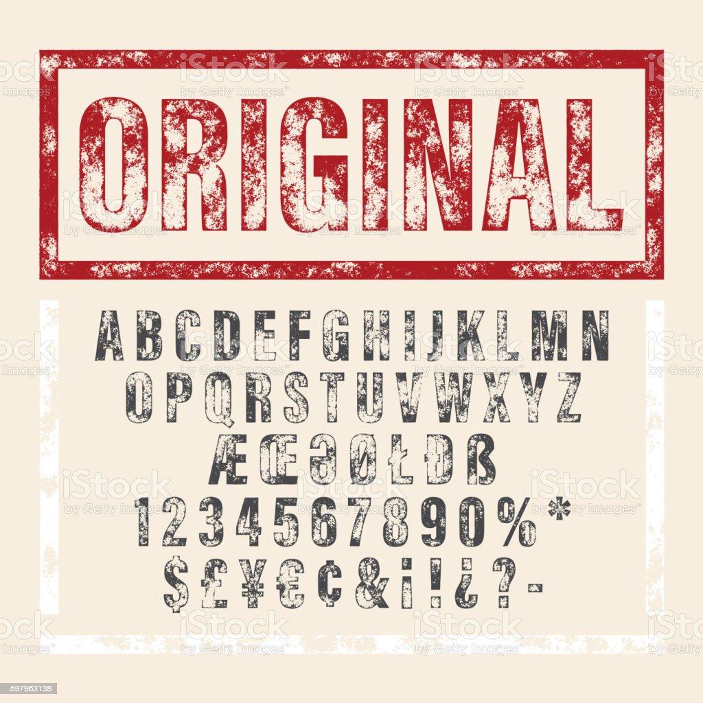 Vector hand drawn alphabet. Brush painted letters. vector hand drawn alphabet brush painted letters - immagini vettoriali stock e altre immagini di alfabeto royalty-free