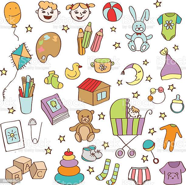 Vector hand drawn baby icons and objects vector id498880501?b=1&k=6&m=498880501&s=612x612&h=rv9um7xzq5aafgqupdlh1nb8bqbr6v5cmjlqq5ol6o0=