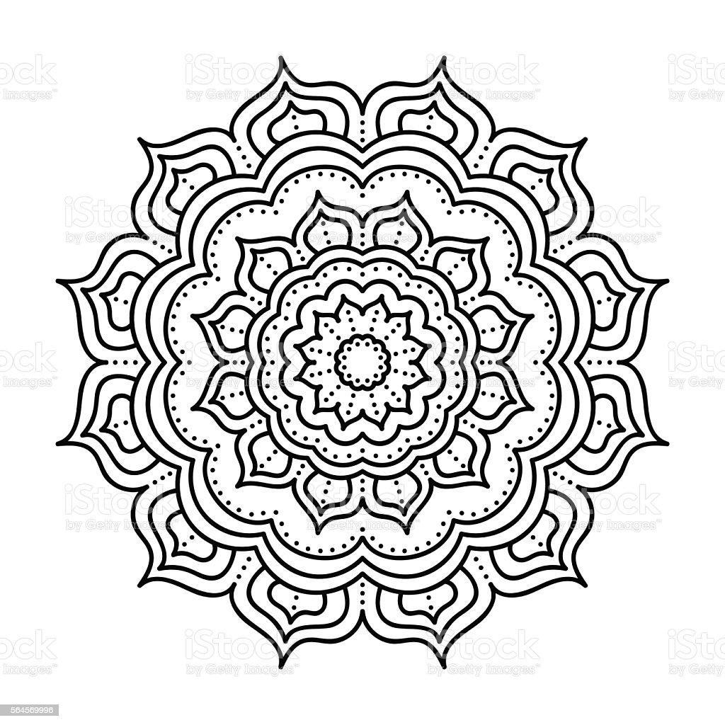 Vector hand drawn doodle mandala - ilustração de arte em vetor