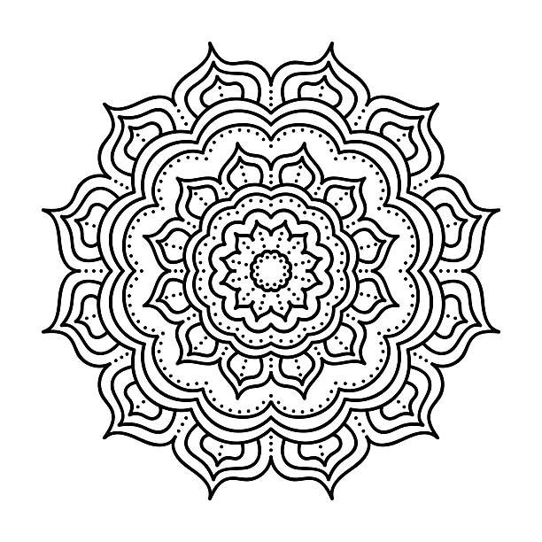 Vector hand drawn doodle mandala - Illustration vectorielle