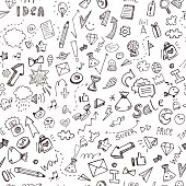 Vector hand drawn doodle pattern for your business and ideas