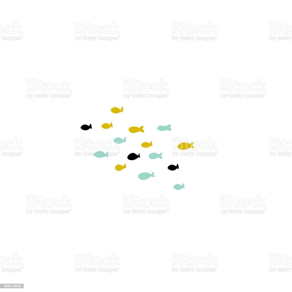 Vector poissons dessinés à la main - Illustration vectorielle