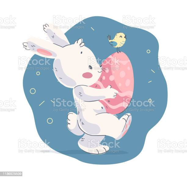 Vector hand drawn illustration with cute little baby rabbit and small vector id1136525539?b=1&k=6&m=1136525539&s=612x612&h=296xuwpufcthodmkv7v5y8xudkr71yvx6pb2c2qqpns=