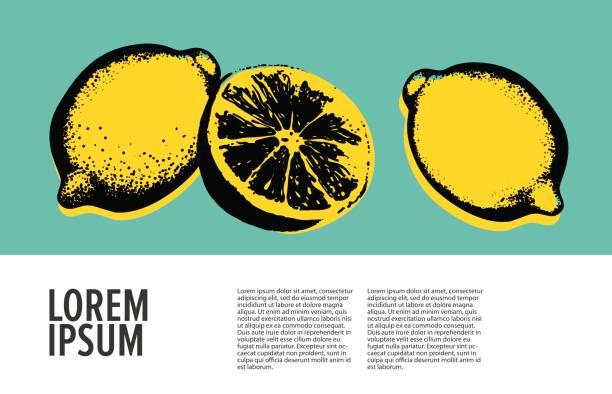 ベクトルは手描き下ろしレモンです。 - レモン点のイラスト素材/クリップアート素材/マンガ素材/アイコン素材