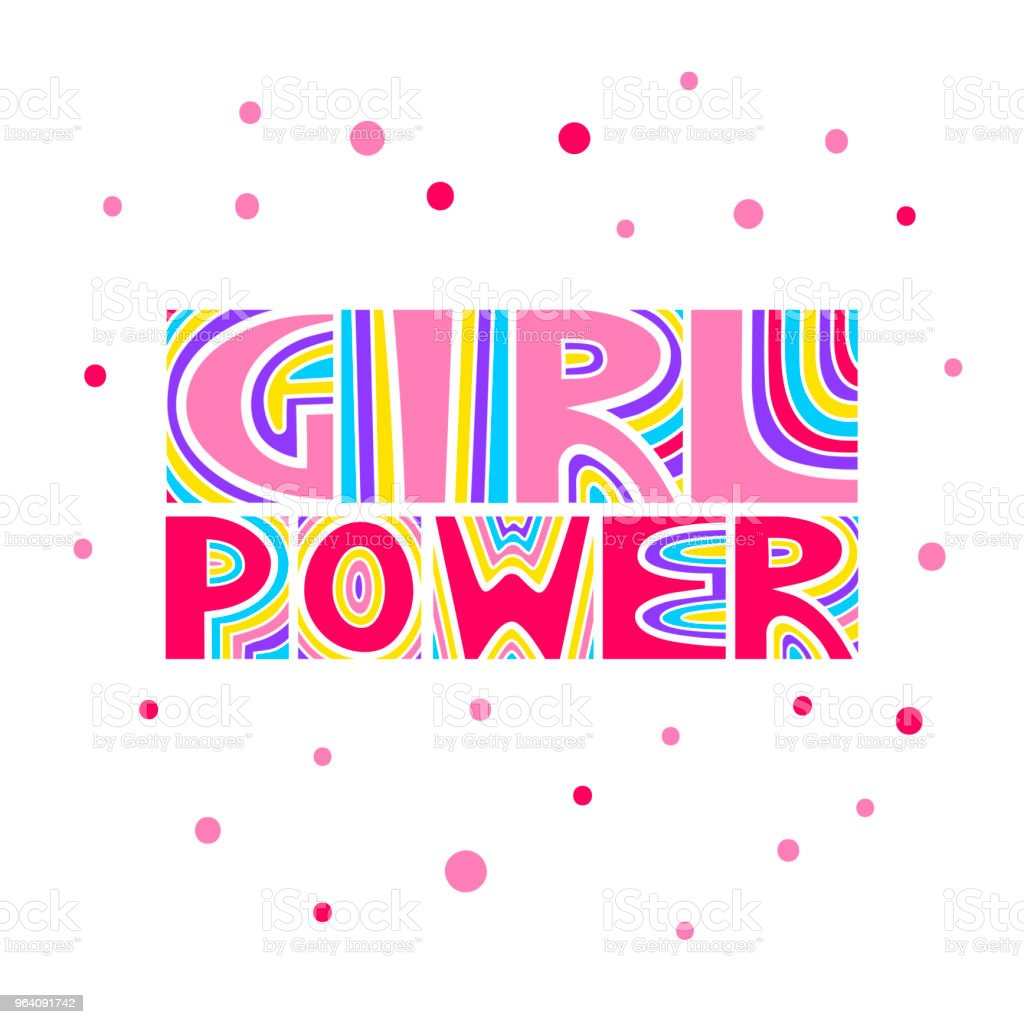 "Vector hand drawn lettering ""Girl Power"". - Royalty-free Acid stock vector"