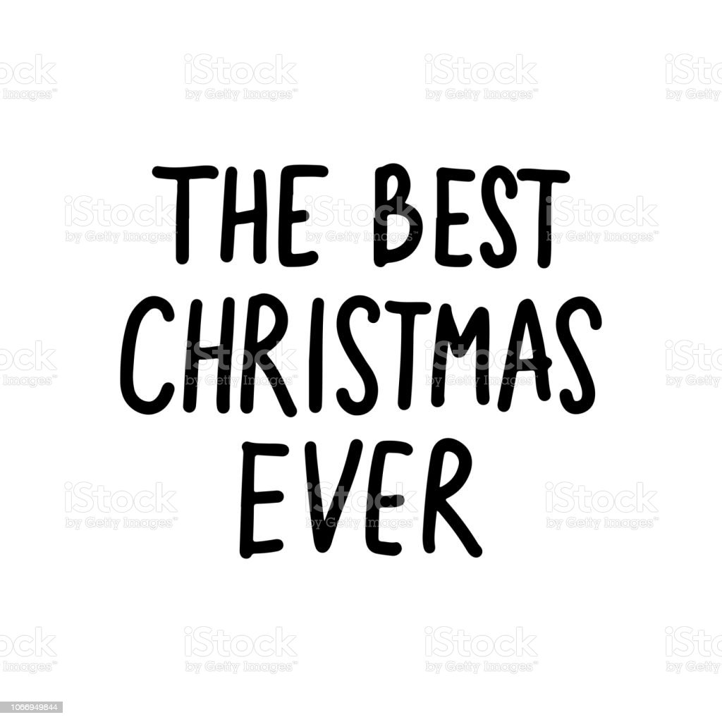 Christmas Card Phrases.Vector Hand Drawn Lettering Phrases Merry Christmas And Happy New Year Stock Illustration Download Image Now