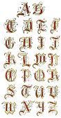 Vector Hand Drawn Medieval Alphabet