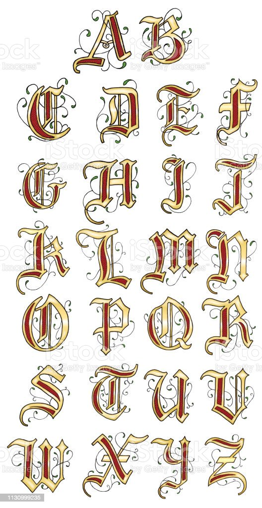 Illuminated letter T
