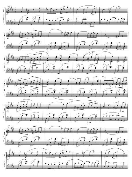 vektor hand gezeichnete notenblatt hinweis - musiksymbole stock-grafiken, -clipart, -cartoons und -symbole