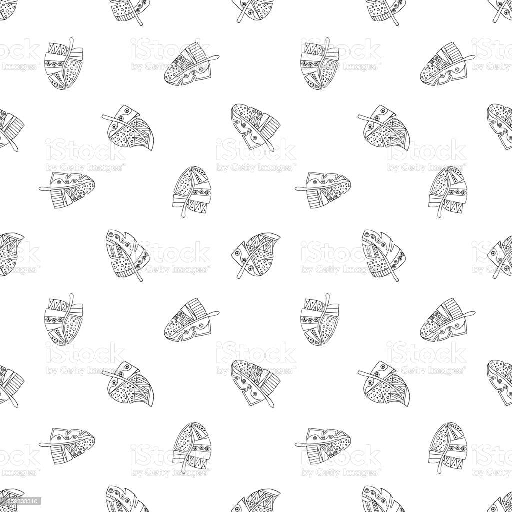 Ilustración de Vector Mano Dibujada De Patrones Sin Fisuras ...