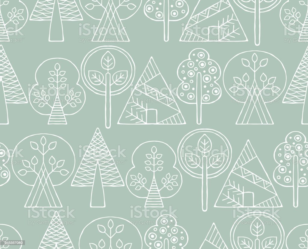 Line Drawing Vector Graphics : Vector hand drawn seamless pattern decorative stylized childish