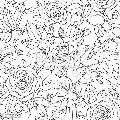 istock Vector conjunto de rojo rosas con brotes, hojas y tallos ...