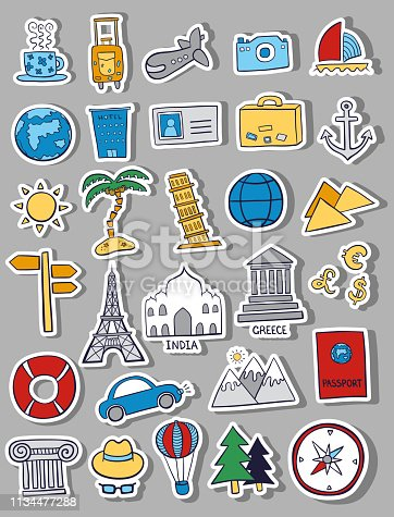 istock vector hand drawn travel sketch doodle set 1134477288