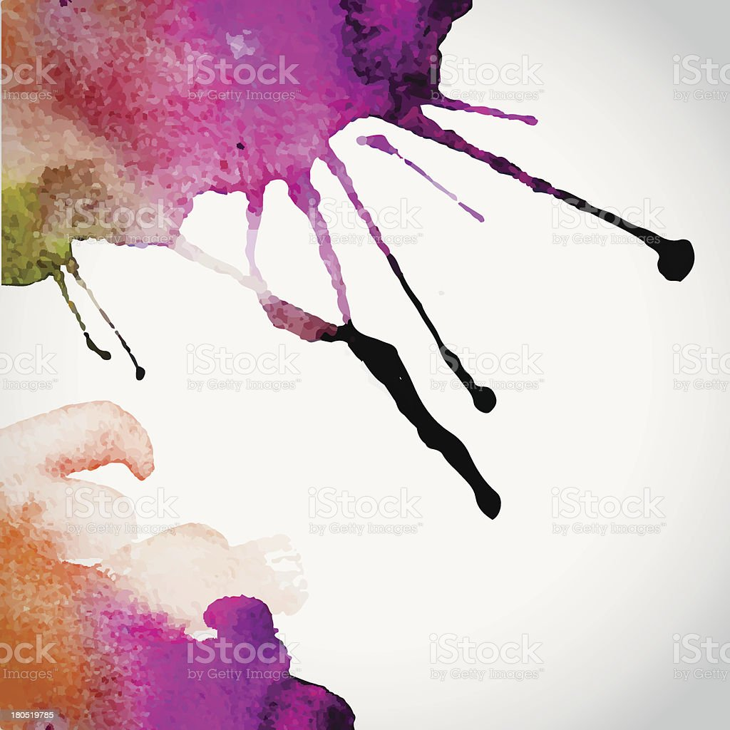 Vector hand drawn watercolor background royalty-free stock vector art