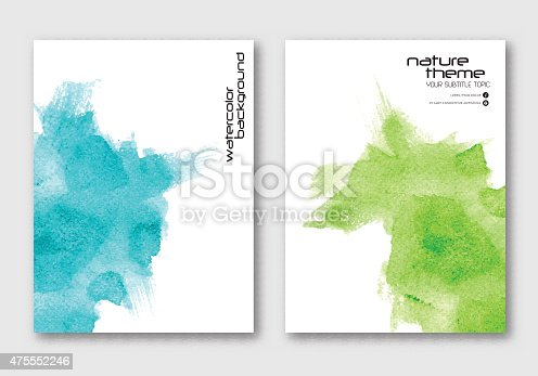 istock Vector Hand drawn Watercolor stain background. 475552246