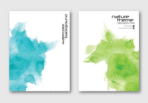 wektor ręcznie rysowane wodne barwienie tła. - holiday background stock illustrations