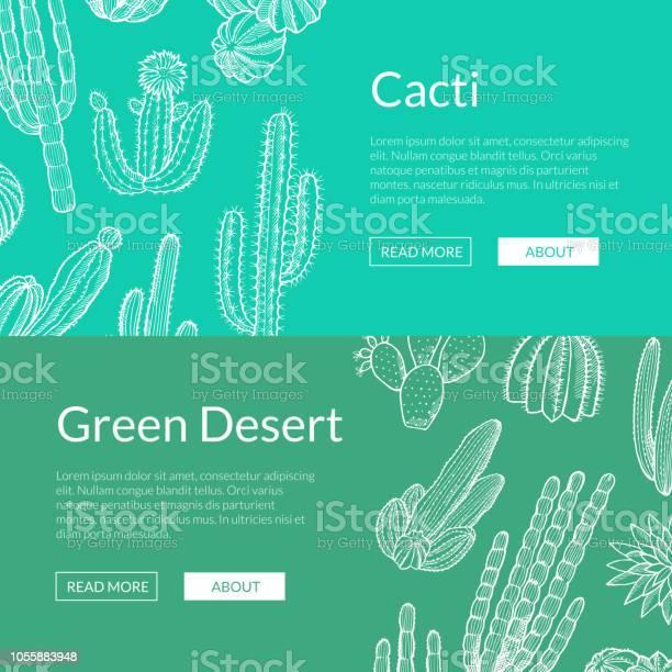 Vector hand drawn wild cacti plants web banner templates illustration vector id1055883948?b=1&k=6&m=1055883948&s=612x612&h= xnr8e4rwke2gotsj 8hvfnu8pqfmx0ich94mdkel8q=