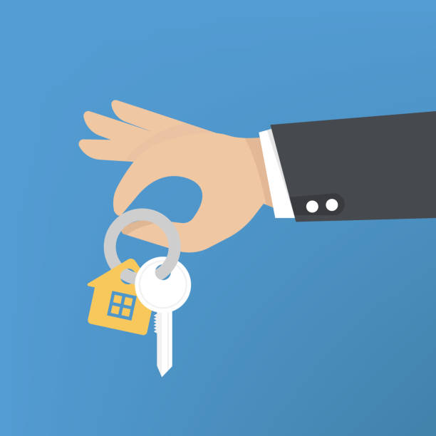 Vector hand giving keys. Real estate concept. home concept. Vector hand giving keys. Real estate concept. home concept. house key stock illustrations