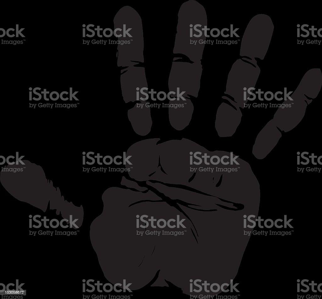 EPS Vector Hand Print - 1 credit royalty-free stock vector art