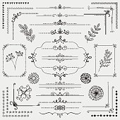 Vector Hand Sketched Rustic Design Elements, Dividers