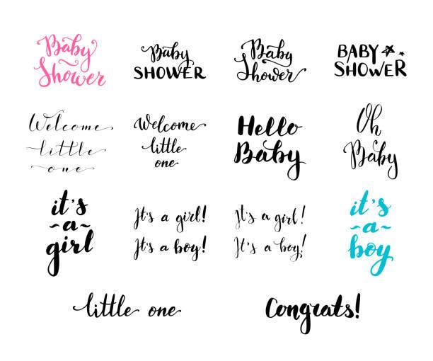 向量手寫畫筆單詞和片語。 - 淋浴 幅插畫檔、美工圖案、卡通及圖標