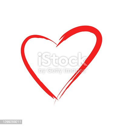 istock Vector hand-drawn doodle heart icon 1299259211