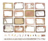 DESIGNER VECTOR COLLECTION, HAND PAINTED, SCANNED and Traced Grunge Textures