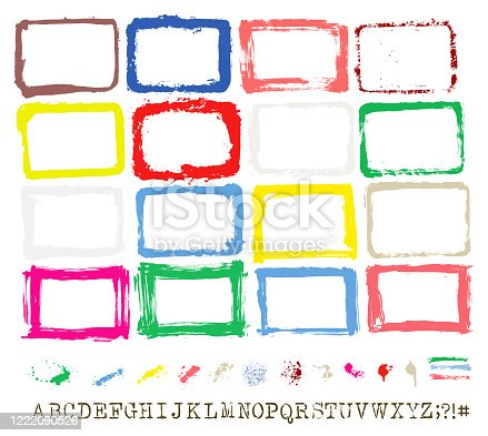 PAINT BRUSH STROKE and PAINT SPALSH VECTOR COLLECTION FRAME SET COLLECTION