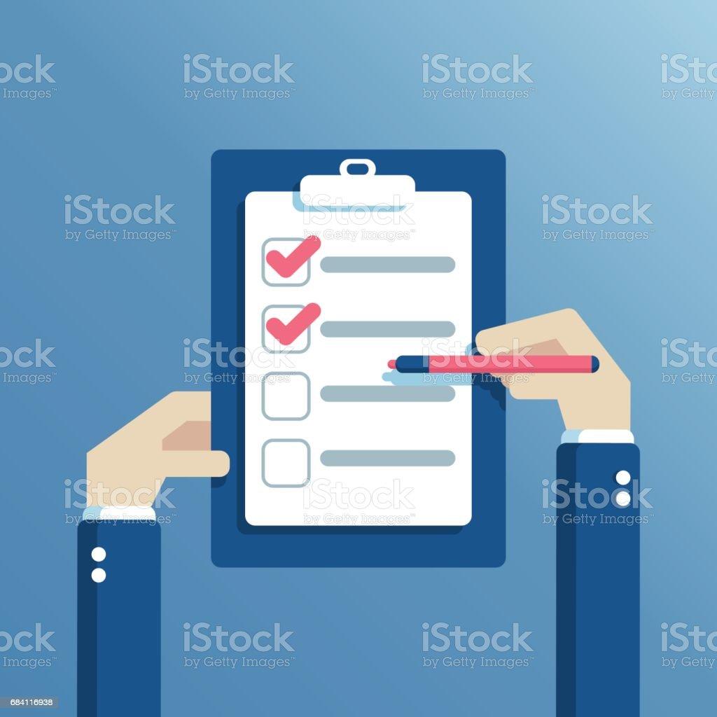 Vector handen en Controlelijst royalty free vector handen en controlelijst stockvectorkunst en meer beelden van bedrijfsleven