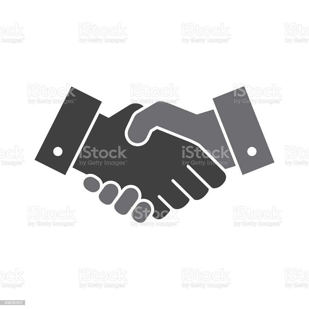 Vector handshake icon vector art illustration