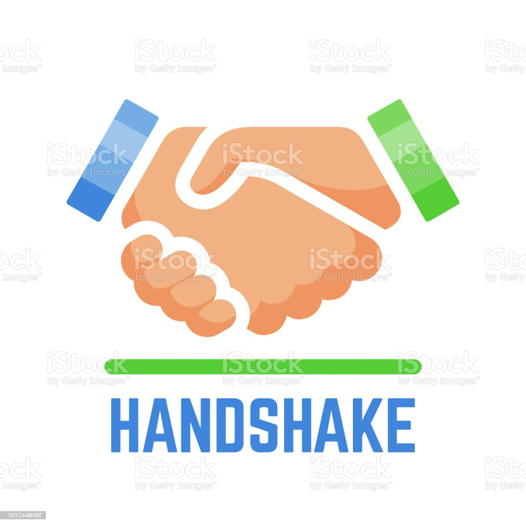 Vektorhandshake Oder Partnerschaft Und Vereinbarung Vertrag Einfach ...