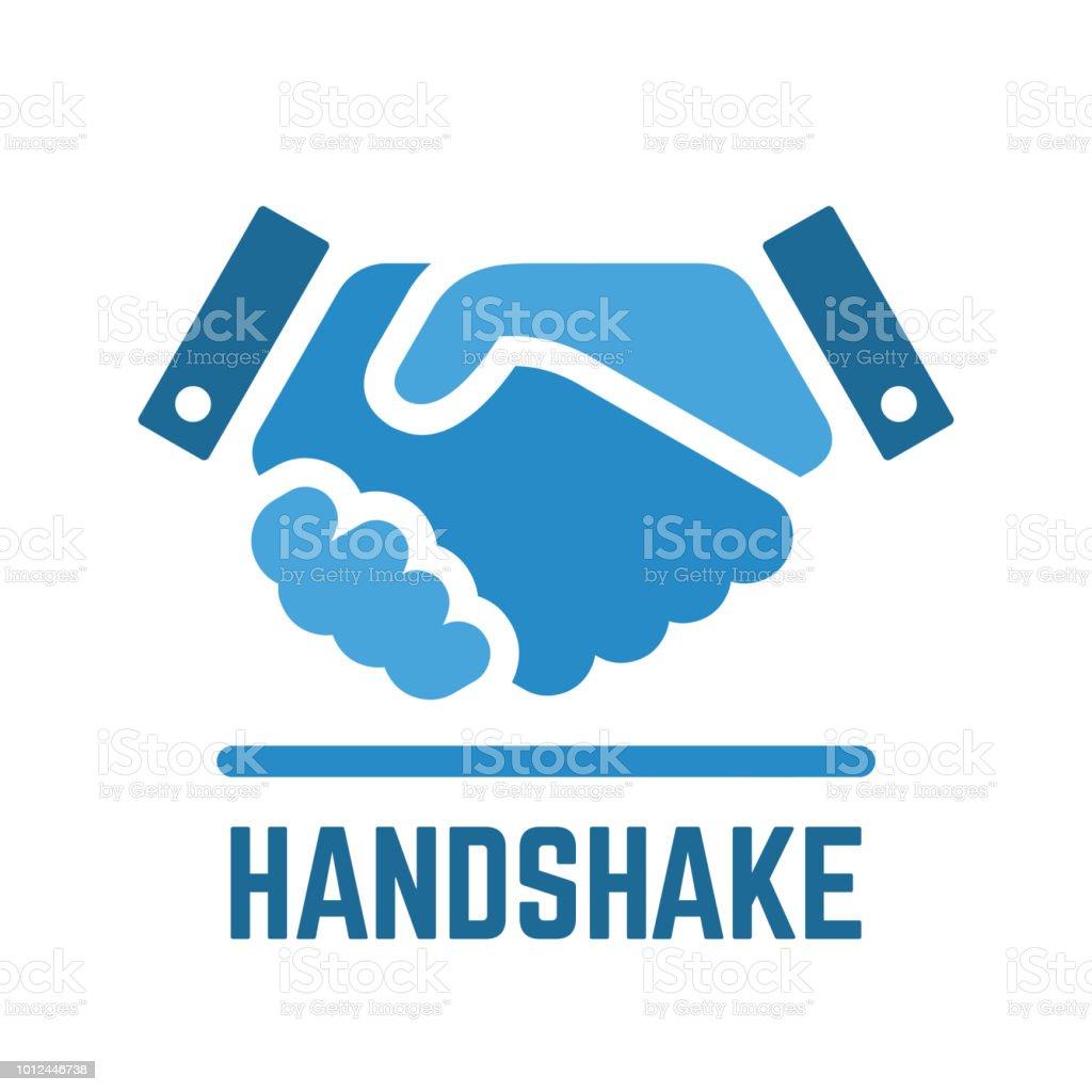 Vektorhandshake Oder Partnerschaft Und Business Vertrag Einfache ...