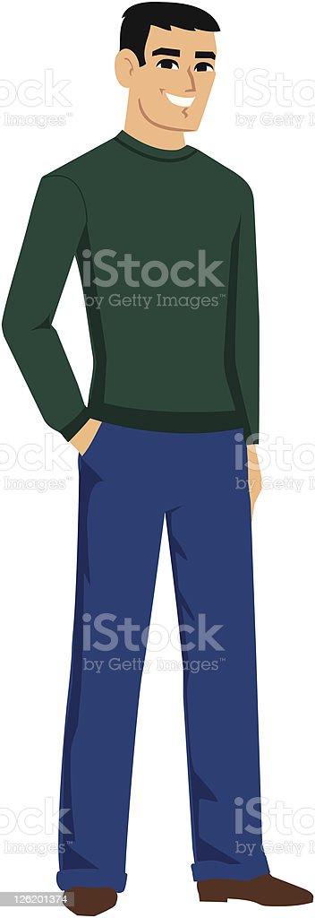 vector-handsome-man-cartoon-avatar-stand