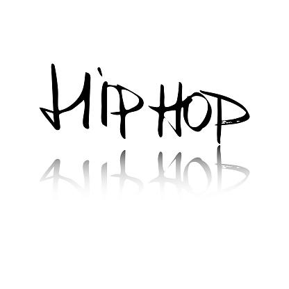 Vector handwritten lettering hip hop