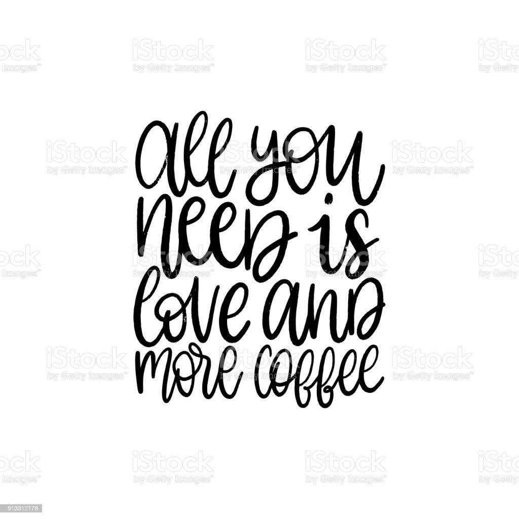 Ilustração De Vector Frase Manuscrita De Tudo Você Precisa é Amor E