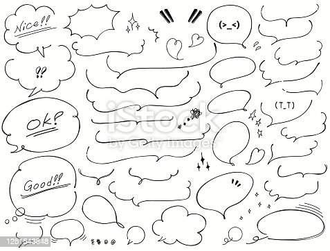Vector handwritten speech bubble